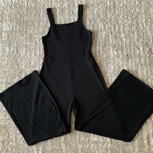 FOREVER 21 Ribbed wide legged jumpsuit